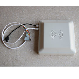 China White Long Distance RFID Integrated Reader , Access Control Rfid Gate Reader distributor